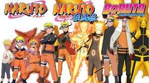 naruto evolution of naruto uzumaki all forms modes naruto naruto