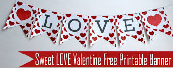 valentines banner s day printable collection the inspiration party by