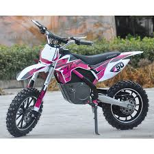 motocross bike shops uk new xtreme 36v 500w xtm dirt bike in pink with lithium batteries