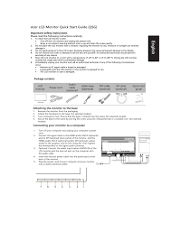 acer k272hul user manual 2 pages