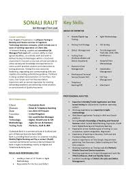 Test Manager Resume Sample by Qa Test Lead Resume Contegri Com