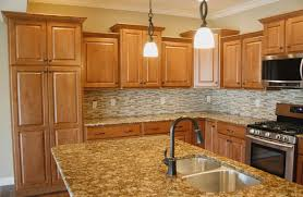 what color countertops go with maple cabinets kitchen backsplash ideas with granite countertops remix insider