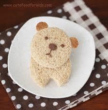 cute food for kids bear nutella sandwich
