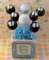 12 bald baby boy cake pops sweets table baby shower favors