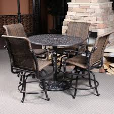 High Chair Patio Furniture Balcony Height Swivel Patio Chairs Patio Decoration