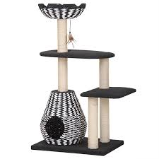 Modern Design Cat Furniture by Pet Pals Pet Pals Contemporary 4 Level Cat House Cat Trees Towers
