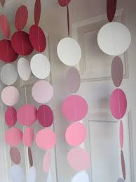 paper garland decorations birthday party weddings bridal shower