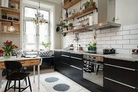 Open Kitchen Shelves Instead Of Cabinets Ideas To Decorate Scandinavian Kitchen Design