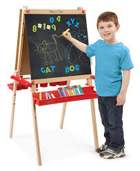 best art easel for kids amazon com melissa doug deluxe magnetic standing art easel with