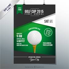 golf cup poster vector free download