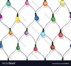 seamless string of christmas lights royalty free vector