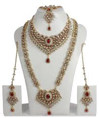 indian bridal necklace sets images Oscar de la renta bridal designer bridal wear jewelry amor jpg