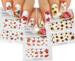 amazon com autumn leaves nail art water slide tattoo sticker