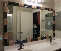 inspirational make your own bathroom mirror frame bathroom ideas