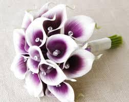 purple calla lilies artificial calla lilies wedding bouquets wedding corners