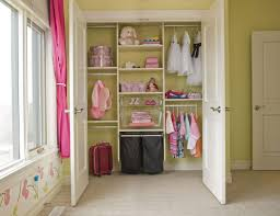 interior baby closet organizers with double hanging clothes areas