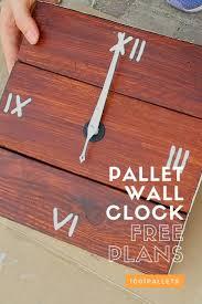 273 best pallet clocks images on pinterest pallet clock wood
