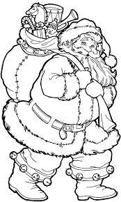 santa claus coloring pages bring christmas gifts coloringstar