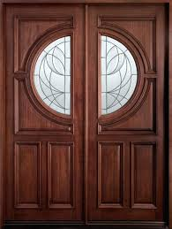 Modern Front Entry Doors In African Mahogany Chad Womack by Double Glazed Front Door Designs Gallery Doors Design Ideas