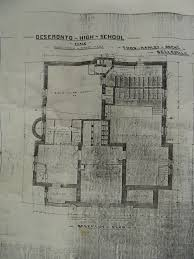 file floor plan of the basement of deseronto high showing