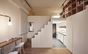 Small Mezzanine Bedroom by Renovation Turns Drab Tiny Apartment Into Chic Efficient Home