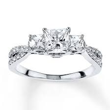 2 carat white gold engagement ring best 25 princess cut rings ideas on princess cut