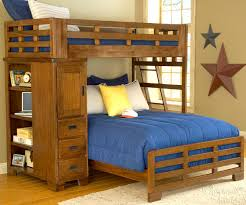 Furniture Of America Tree House Piece Twin Over Twin Bunk With - Queen bed with bunk over