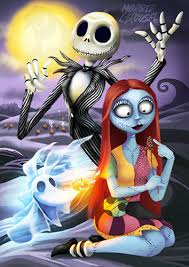 nightmare before sally large a1 poster print