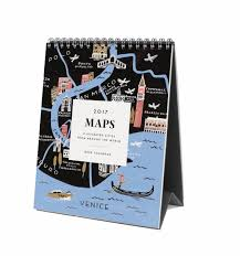 Rifle Colorado Map by 2017 Maps Desk Calendar By Rifle Paper Co Made In Usa