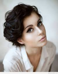 short haircut for curly hair oval face short hairstyle for women