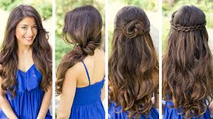 and easy hairstyles for long hair cute and easy hairstyles youtube