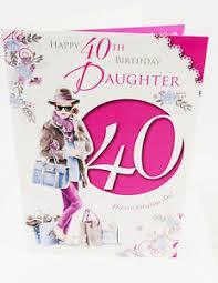 happy 40th birthday daughter pink elegant girly verse 40 quality