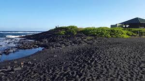 black sand beach hawaii black sand beach on the big island of hawaii youtube