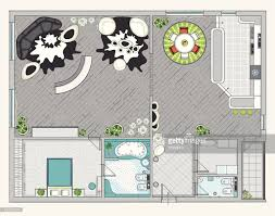 one bedroom apartment interior design of one bedroom apartment vector art getty images