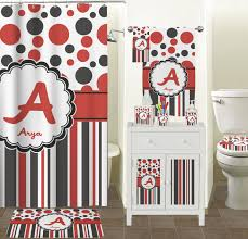red home decor accessories delectable 40 red black and white bathroom decor inspiration of