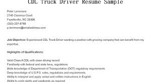 truck driver resume sample cdl resume objective truck driver resume samples box professional