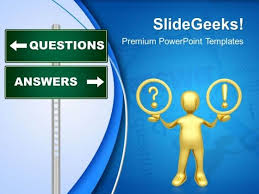 question answer singnpost metaphor powerpoint templates and