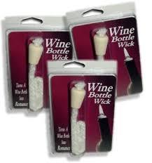 wine bottlewick makes a wine bottle oil lamp