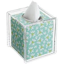 tissue paper box acrylic hinged lid boutique tissue box the container store