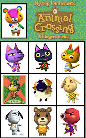 Animal Crossing Villager Meme - my top 10 favorite animal crossing villagers meme by neonduck7 on