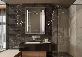bathrooms design mirror with built in lights bathroom mirror