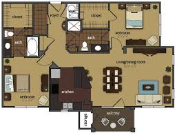 luxury one bedroom apartment floor plans