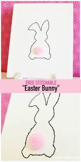 free stitchable easter bunny u create