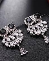 owl stud earrings sparkling owl stud earrings owls outlet