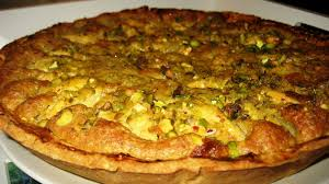 recette hervé cuisine tarte aux pêches jaunes et pistaches la cuisine de mich