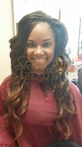wet and wavy african hair braiding tree braids ombre effect by strands of beauty with body wave hair