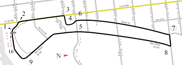Map St Petersburg Florida by File St Petersburg Street U0026 Airport Racing Circuit 1985 1991