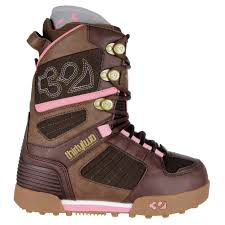 womens snowboard boots nz thirtytwo prion womens snowboard boots brown pink