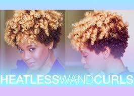 wand curl styles for short hair heatless wand curls on short natural hair