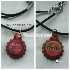 bottle cap necklaces fallout mini bottlecap charm necklace sunset sarsaparilla or nuka